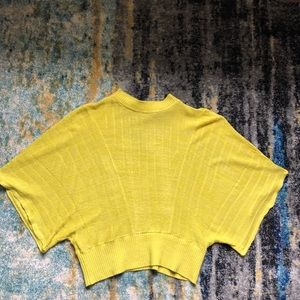 Anthropologie Knitted & Knot Apple Green Top sz S